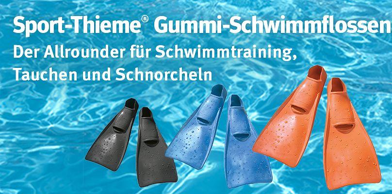 Sport-Thieme® Gummi-Schwimmflossen - Der Allrounder