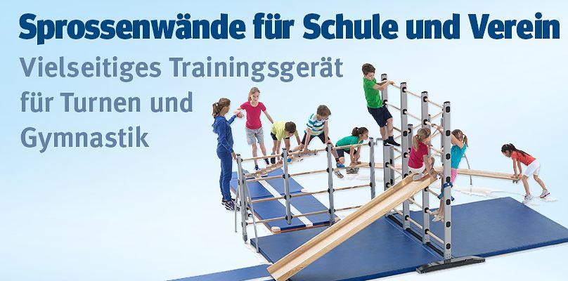 Sprossenwaende für Schule und Verein - Vielseitiges Trainingsgerät für Turnen und Gymnastik
