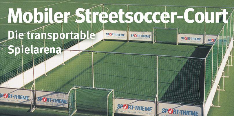 Mobiler Streetsoccer Court - Die transportable Spielarena