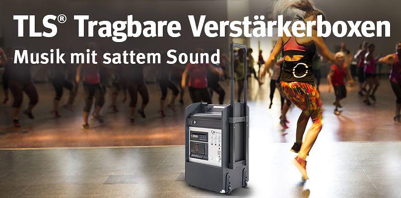 TLS® Tragbare Verstärkerboxen - Musik mit sattem Sound