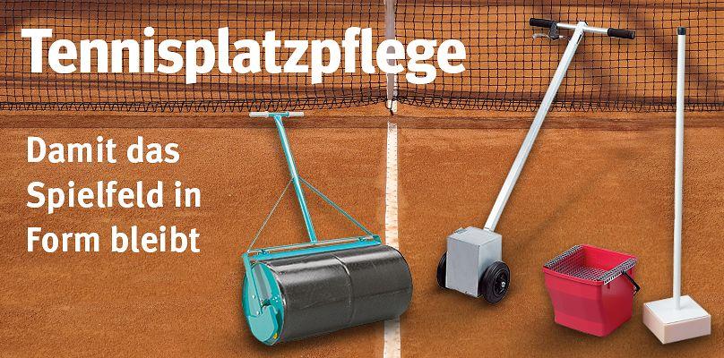 Tennisplatzpflege - Damit das Spielfeld in Form bleibt
