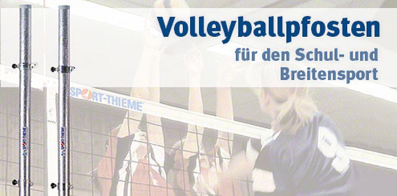 Volleyballpfosten für den Schul- und Breitensport bei Sport-Thieme