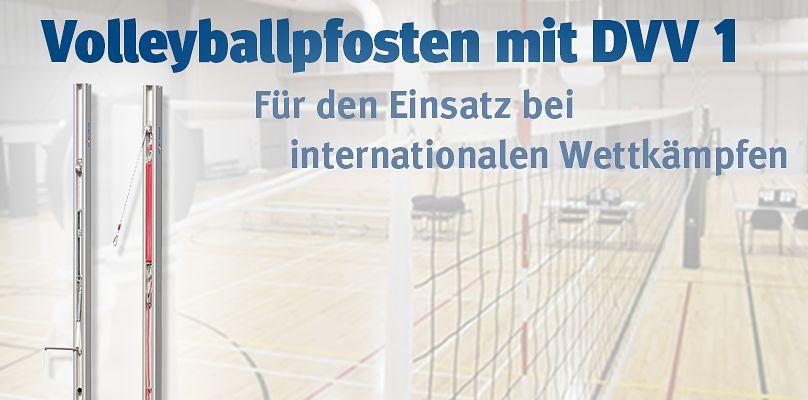 Volleyballpfosten DVV1 für den Einsatz bei internationalen Wettkämpfen
