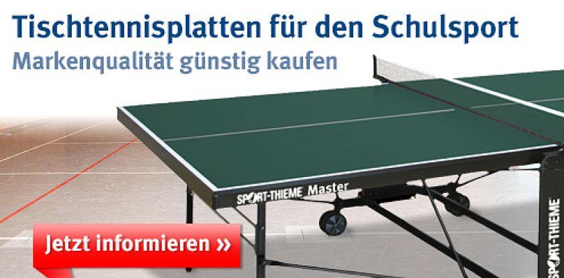 Tischtennisplaten für den Schulsport bei Sport-Thieme
